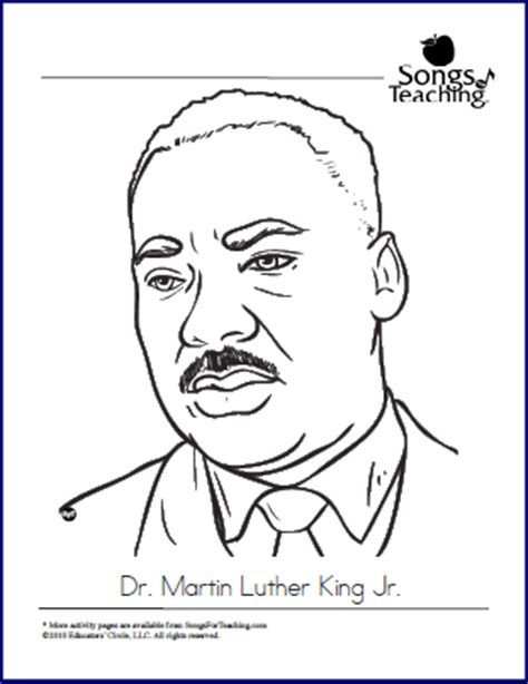 coloring pages about martin luther king jr free dr martin luther king jr coloring page