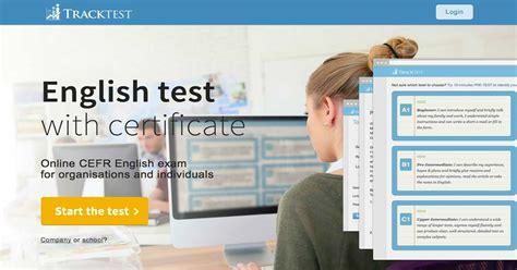 Lebenslauf Englisch Einstufung Englisch Test Tracktest