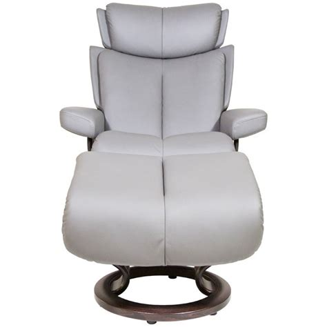 Small Chair And Ottoman Stressless Magic 1273015 Small Reclining Chair Ottoman With Classic Base Hudson S Furniture