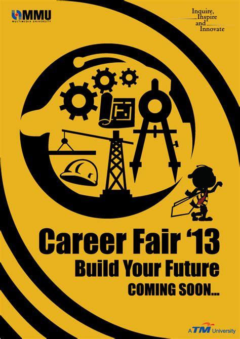 sle tarpaulin layout for seminar mmu career fair poster design on behance