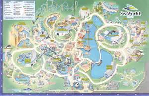 Seaworld Map Orlando by Seaworld Of Orlando 2011 Park Map