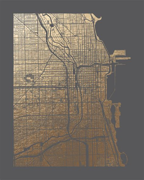 chicago map drawing chicago map artwork