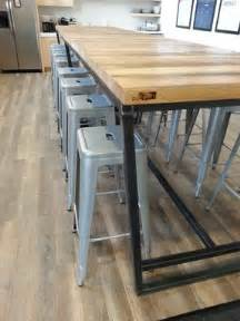 High Top Conference Table Made Reclaimed Wood And Steel Industrial High Top Conference Table By Re Dwell Custommade