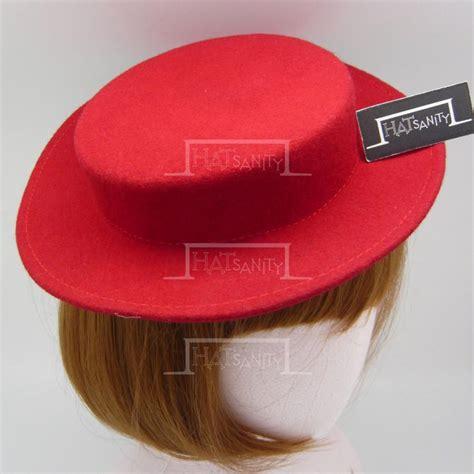 mini boater hat trendy fashion plain wool felt mini boater hat fascinator