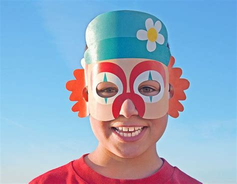clown mask template 124 best images about dress ups play on