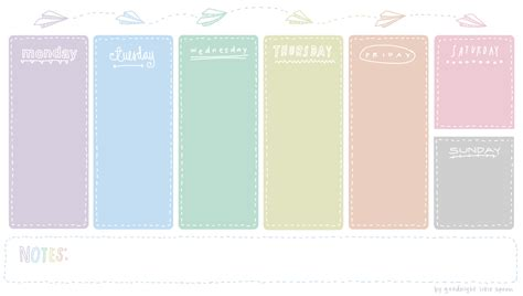 E M O R Y Original all sizes weekly planner by goodnight spoon