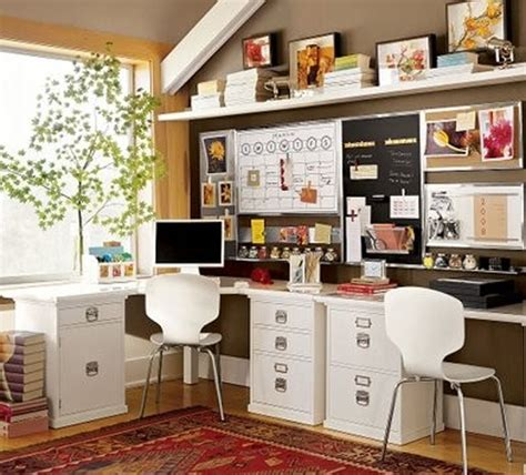 creative home office double and small home office desk ideas