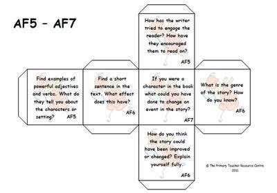 printable guided reading dice guided reading activity dice assessment focus 5 7 school