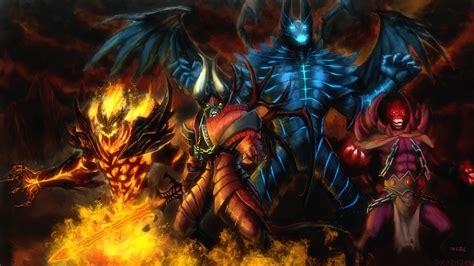 dota 2 vs wallpaper infernal heroes dota 2 wallpapers