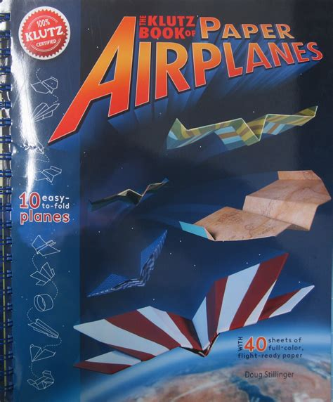 book of paper airplanes 1570548307 klutz book of paper airplanes craft kit amazon