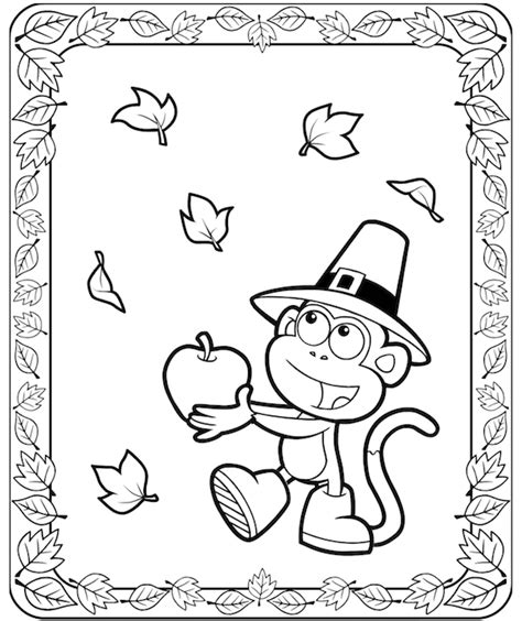 dora thanksgiving coloring page thanksgiving coloring pages
