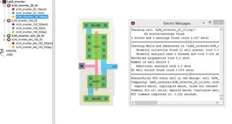 cmos inverter layout design using l edit lab 5