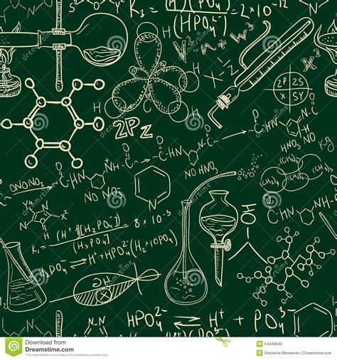 pattern background science science chemistry old laboratory seamless pattern vintage