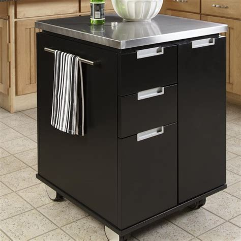kitchen cart with stainless steel top modern kitchen