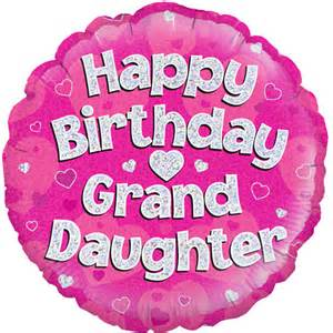 Backyard Party Decoration 18 Happy Birthday Granddaughter Round Foil Balloon 1 18