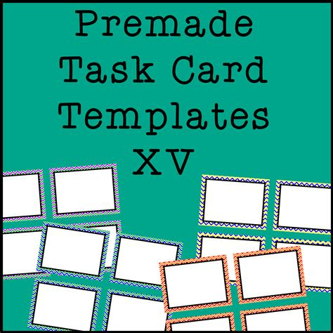 Task Card Frames And Borders 15 Template Chevron Tpt Clipart Pinterest Teacher Task Card Template