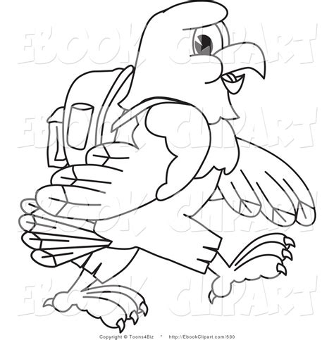 eagle mascot coloring pages vector clip art of a coloring page of a happy bald eagle