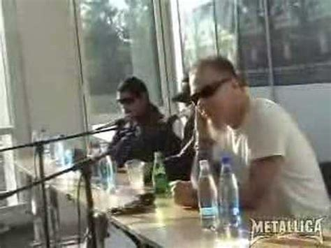 metallica estonia metallica in estonia press conf fans warm up live