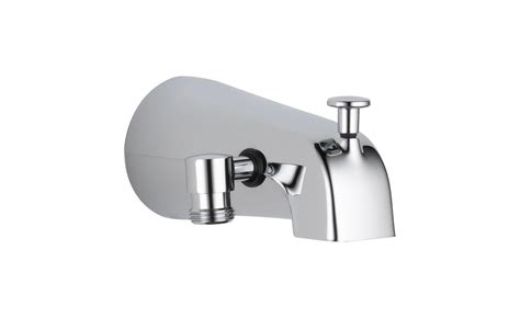 bathtub spout with shower connection faucet com u1072 pk in chrome by delta