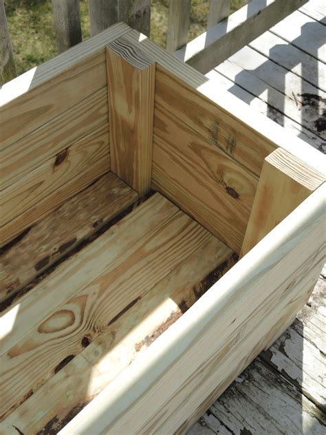 2x4 Planter Box by Cm Shaw Studios How To Build A Planter Out Of Pressure
