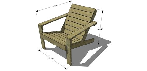 Free Diy Furniture Plans How To Build An Outdoor Modern How To Build A Patio Chair
