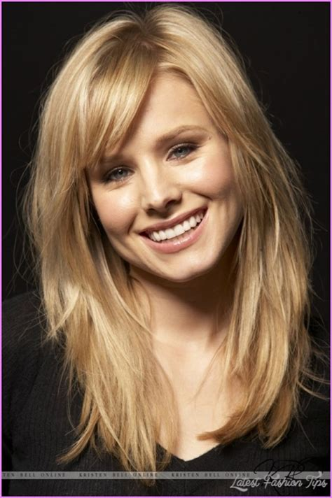 haircuts with bangs shoulder length pictures to pin on pinterest straight medium length haircuts with layers