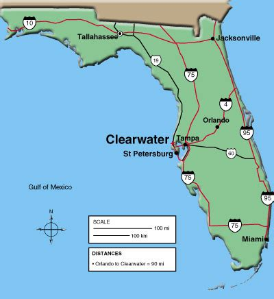 clearwater florida on map maps clearwater chamber of commerce