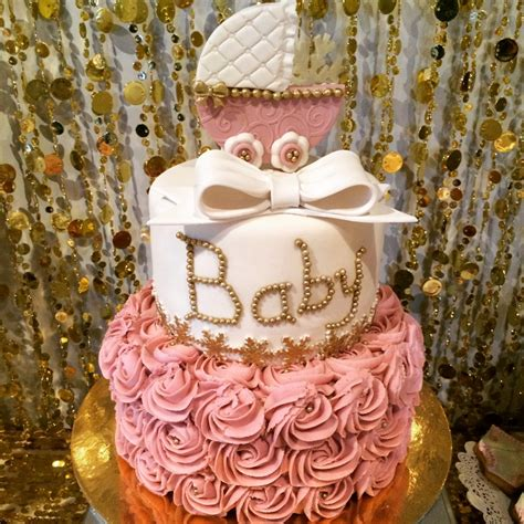 Gold Baby Shower by Baby It S Cold Outside Pink And Gold Baby Shower Project