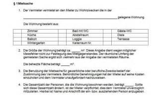 mietvertrag haus kostenlos mietvertrag muster vorlage f 252 r wohnung oder haus