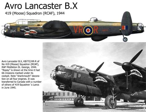lincoln lancaster avro lancaster b x wwii aircraft profiles pictures
