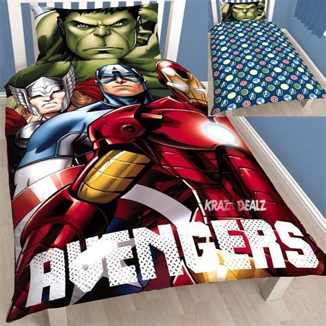 hulk bedding marvel avengers shield single panel duvet cover bed set