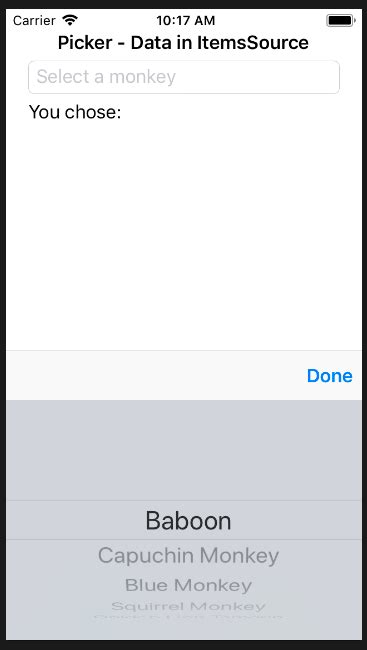xamarin uipickerview tutorial c how to add toolbar with done button to uipickerview