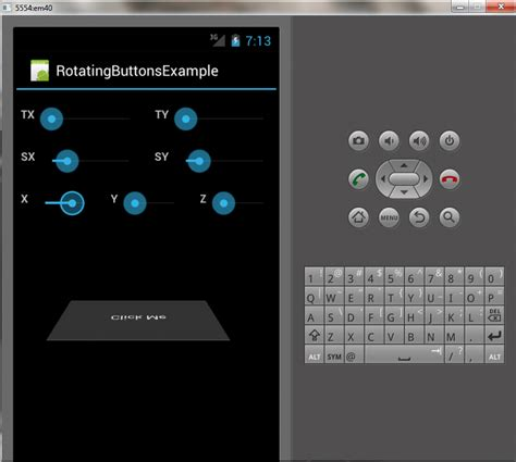 android studio rotate layout rotating button exle in android edumobile org