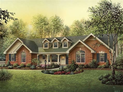 Single Story Cape Cod oakbury ranch home plan 007d 0146 house plans and more