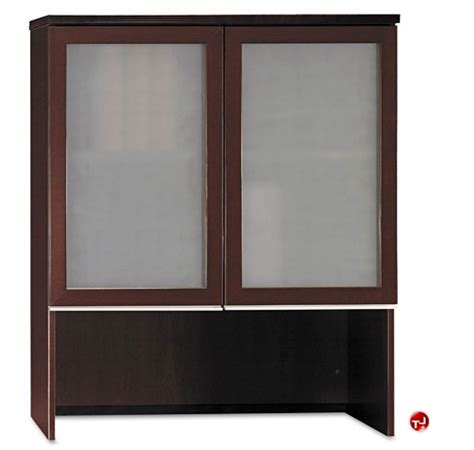 Overhead Glass Doors The Office Leader Bush Milano2 36 Quot W Bookcase Overhead With Glass Doors