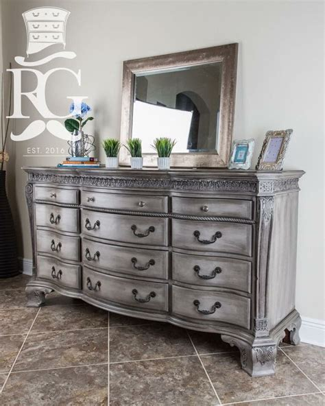 Dresser painted in Annie Sloan Chalk Paint, French Linen. Then a coat of Clear wax & Black wax