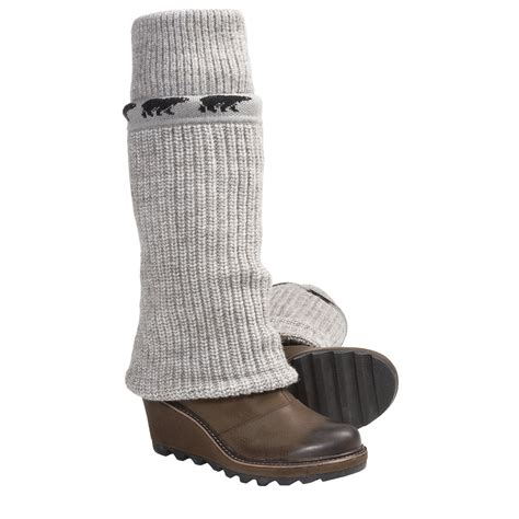 knit boots sorel cable wedge rib knit sweater boots for