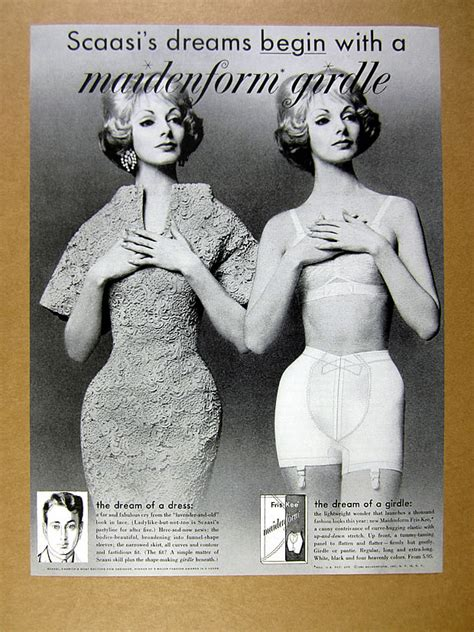 1960 maidenform fris kee girdle dressed