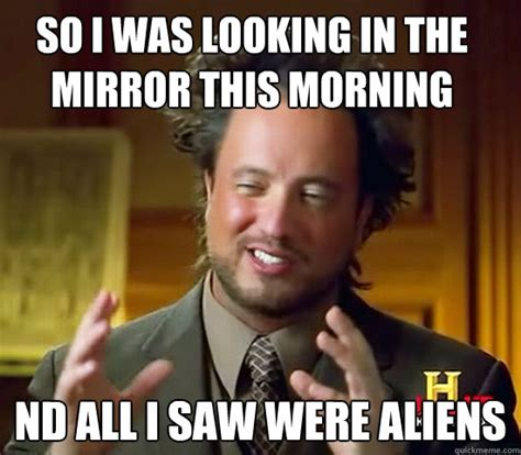 Looking In The Mirror Meme - so i was looking in the mirror this morning nd all i saw