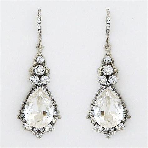 Teardrop Chandelier Bridal Earrings 25 Best Ideas About Bridal Chandelier Earrings On Bridesmaids Wedding Jewellery
