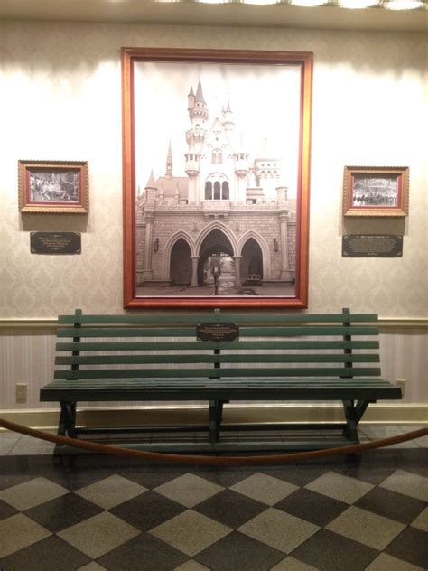 walt disney bench the actual park bench from the griffith park merry go