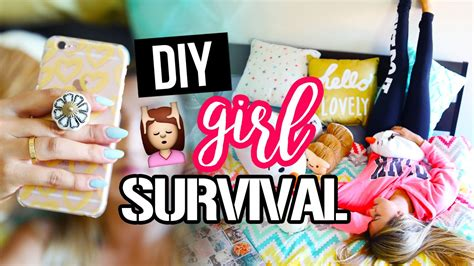diy hacks for girl survival laurdiy youtube
