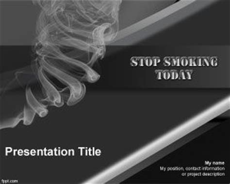 Free Stop Smoking Powerpoint Template Cessation Powerpoint Template