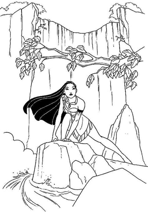 Disney Princess Coloring Pages Pocahontas