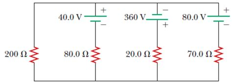 direction of current through a resistor in the circuit in the figure below determine the chegg