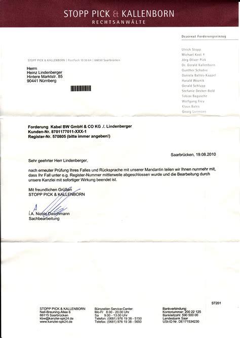 Anwalt K Ndigen Brief Offene Forderung Stopp Kallenborn 4gang