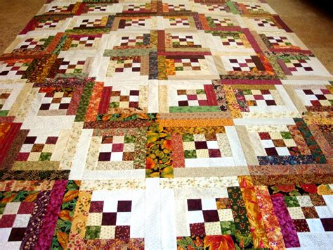 quilt pattern cabin in the woods gorgeous log cabin in the woods quilt top blocks ebay