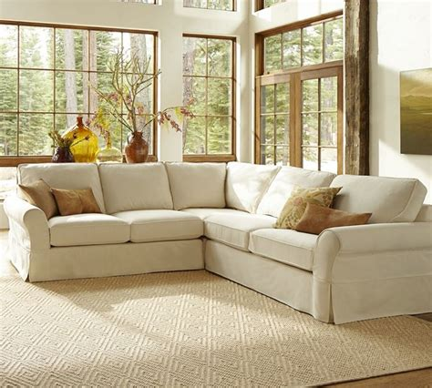 pb comfort sectional pb comfort slipcovered 3 pieced l shape sectional