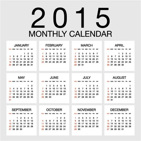 new year 2015 calendar important dates
