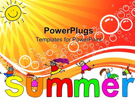 Summer Powerpoint Template Gt Gt 19 Nice Summer Powerpoint Summer Template Powerpoint